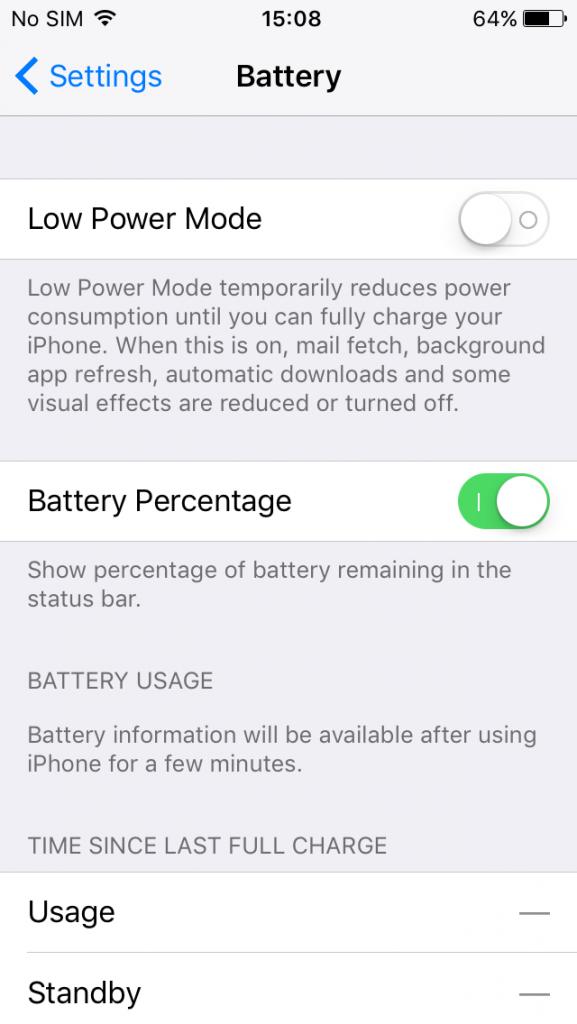 برای افزایش عمر باتری گوشی های اپل درصد باتری را خاموش کنید