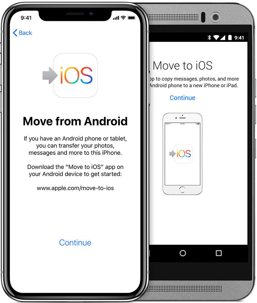 گوشی Andriod و کوشی iOS در کنار هم قرار  ادیم و هر دو به برق وصل باشند