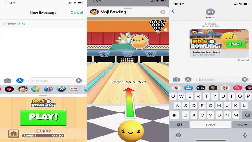 بهترین بازی برای iMessage بولینگ