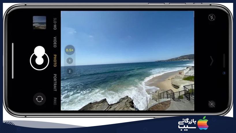 نحوه گرفتن تصویر پشت سر هم هنگام استفاده از دوربین اولترا واید آیفون 11 و 11 پرو