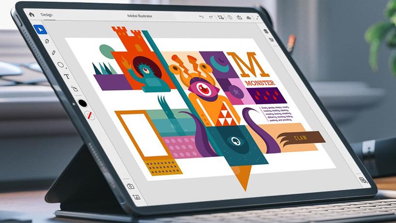 برنامه Illustrator در آیپد